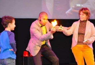 Magic show at the science center (2)